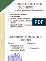 ASPECTOS LEGALES EN EL DISEÑO presentacion temas