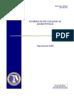 FSCJ operational audit, 2012