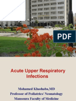 Pediatric Upper Respiratory Infections