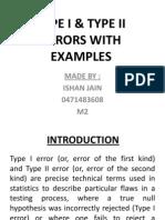 Type i & Type II Errors With Examples