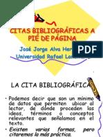 Citas Bibliograficas a Pie de Pagina No.2