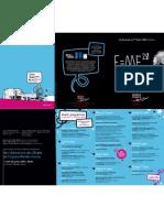 Pré-programme des 20 ans de l'EMF