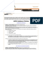 AHPA Guidance on Heavy Metals, Microbials Residual Solvents
