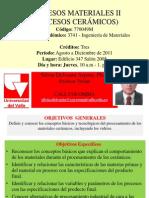 Procesos Materiales II- 8 Septiembre 2011