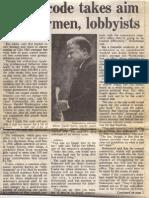 1987 - Feb 15 - Trib - Ethics Code Takes Aim at Alderman, Lobbyists