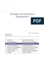 Strategic and Operations Management