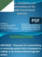 Turnstile patch antenna Presentation