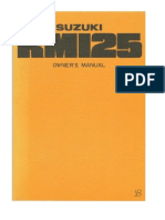 RM125B Owners Manual