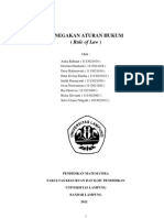 makalah penegakan aturan hukum