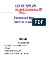 Gears Classification and Application