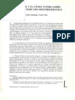 Ginzburg, Carlos y Poni Carlo - El nombre y el cómo. Intercambio desigual y mercado historiográfico