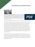 World Bank Group Response to the Global Economic Crisis