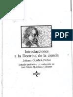 Fichte - 1 era Introducción a la doctrina de la ciencia. trad José María Quintana Cabanas OCR