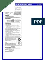 Qw5147CASIO EF-550D-1AV EDIFICE chronograph series manual