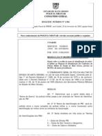 Resolucao n. 001-Dp-2002 de 10 de Janeiro de 2002