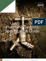 2008 ASPE Plumbing System Spec Guide