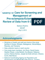 Rawlins_Quality of Care in PEE Review of Data From Six Countries