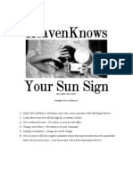 Heaven Knows Your Sun Sign