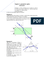 Chap1-Geometrical Optics - Exercises
