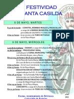 Cartel Festividad Santa Casilda 2.012