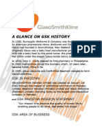 A Glance on Gsk History