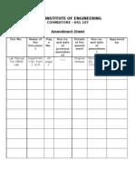 Amendment Sheet