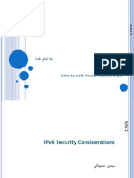 IPV6 Security Consideration