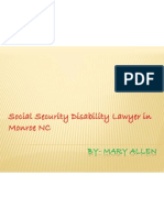 Social Security Disability Lawyer in Monroe NC