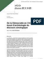 de_la_de_mocratie_en_chine_e_ssai_d_arche_ologie_du_discours_sinologique