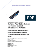 Batterie Acer Aspire One Happy2