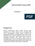 Electrical Submersible Pump (ESP)