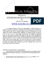 A Guideline for Ninjutsu Instructors