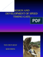 Design and Development of Speed Timing Gate