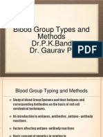 Blood Group Types and Methods