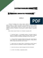 """"""" EFICIENTA STRATEGIILOR DIDACTICE IN PROCESUL EDUCATIEI PRESCOLARE """""""