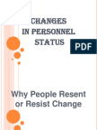 Changes of Status