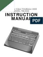 Titlemaker 2000 UserManual