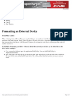 Formatting an External Device - Mac Guides