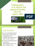 SCI 275 Week 4 Assignment Urbanization