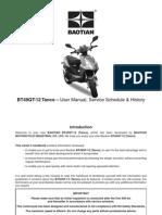 Baotian BT49QT 12 Tanco 50 User Manual