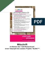 3, Leerstandswerkstatt - Mitschrift vom 04.05.2012