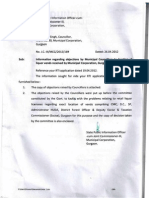 RTI Reply Dt 26 Apr 2012 on Liquor Vends by Municipal Corporation Gurgaon