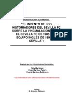 EL SEVILLA FC NO TIENE VINCULACION ALGUNA CON EL EQUIPO INGLÉS DE 1890