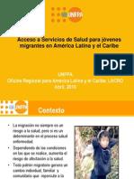 Acceso a los servicios de salud para jóvenes migrantes LAC 2010