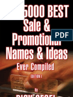 eBook the 5000 Best Sale and Promotional Names and Ideas
