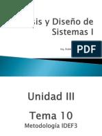 Análisis y Diseño de Sistemas I - Tema 10