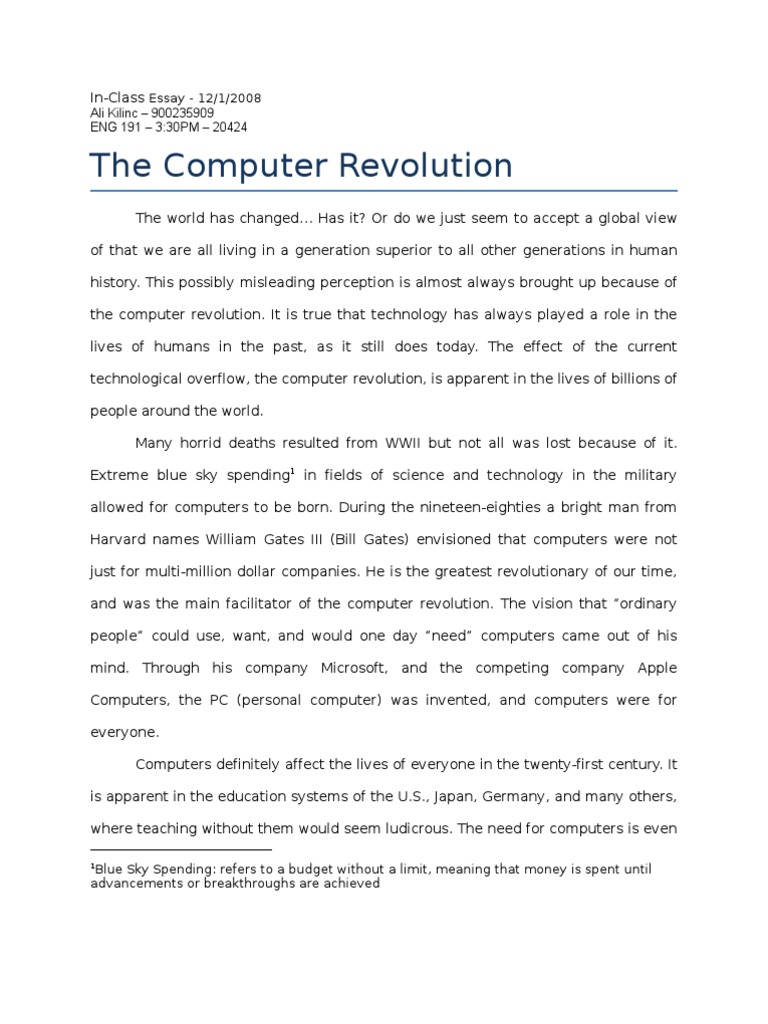 essay on need for computer education