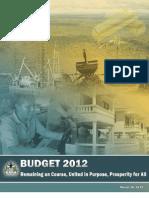Budget 2012 - Speech by Dr. Ashni Kumar Singh, M.P.