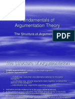 Fundamentals of Argumentation Theory Curs 5 (the Structure of Argumentation)