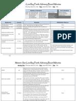 MSLR Parish Advisory Board March Minutes